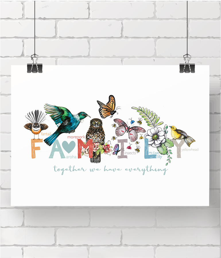 alphabet print - family