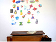 Alphabetic small wall mural