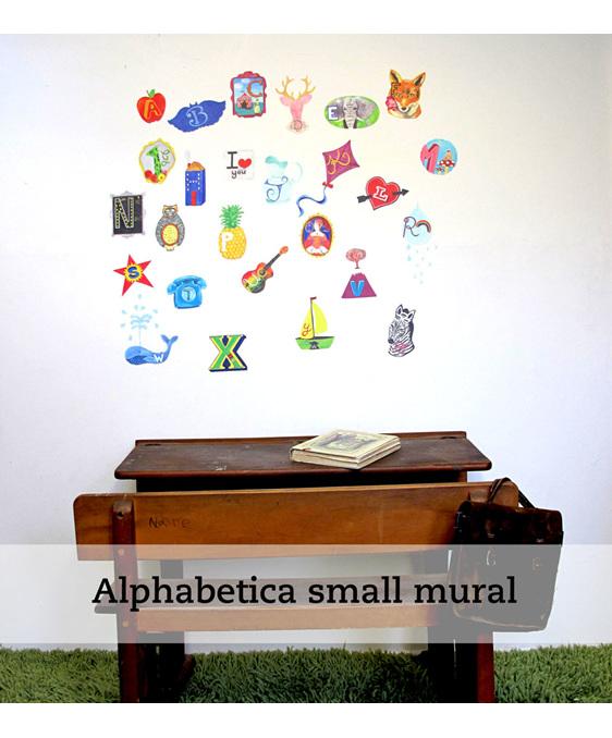 Alphabetica wall decal