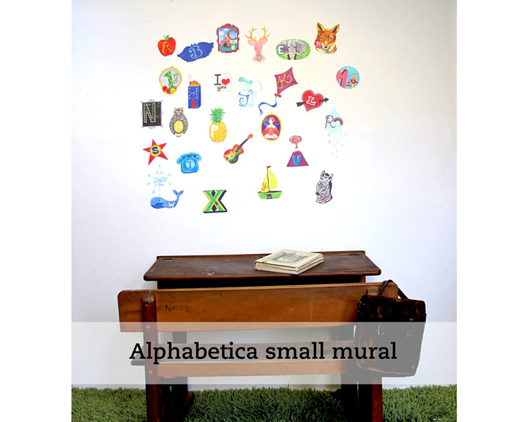 Alphabetica wall decal