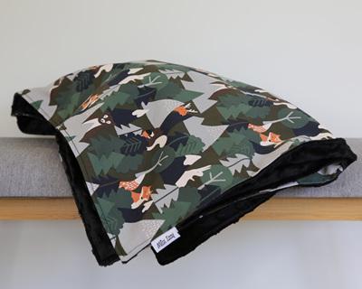 Alpine Forest Black Blanket