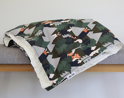 Alpine Forest White Blanket