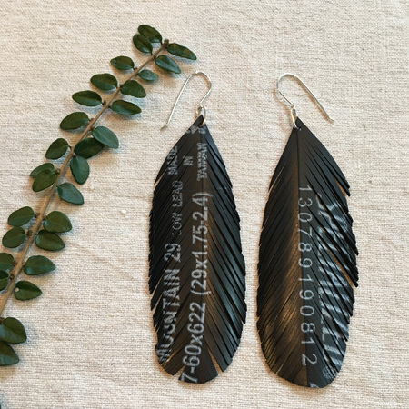 Altitude Earrings with Text
