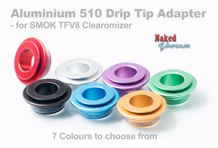 Aluminium 510 Drip Tip Adapter for SMOK TFV8 Clearomizer
