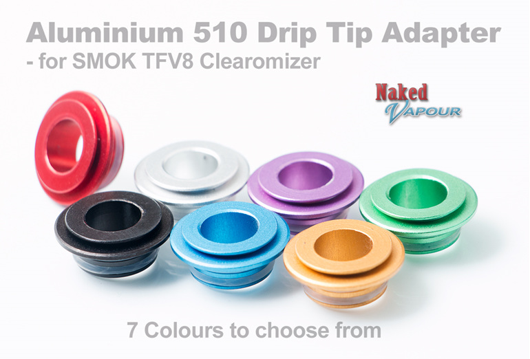 Aluminium 510 Drip Tip Adapter  - for SMOK TFV8 Clearomizer