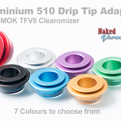 Aluminium 510 Drip Tip Adapter for SMOK TFV8 Clearomizer