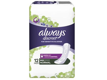 Always Discreet Pad Normal 12 Pack