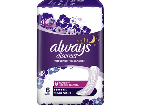 Always Discreet Pads Maxi Night 6 Pack