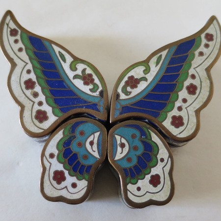 Amazing butterfly in cloisonne