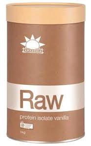 Amazonia RAW Protein Isolate - Vanilla (2 sizes available)