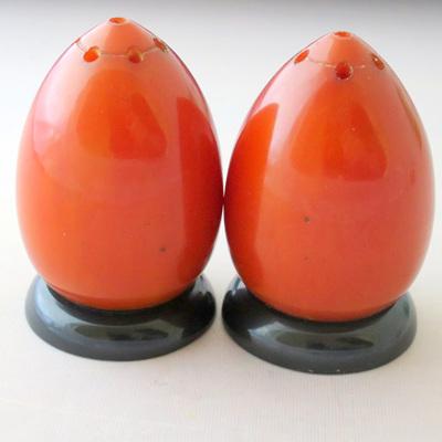 Amber bakelite salt and pepper