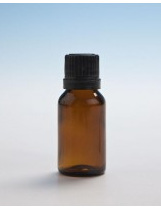 Amber Glass Bottle - 15ml  with Slow Dripulator Cap