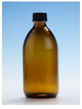 Amber Glass Bottle - 500ml with Black Nera Cap