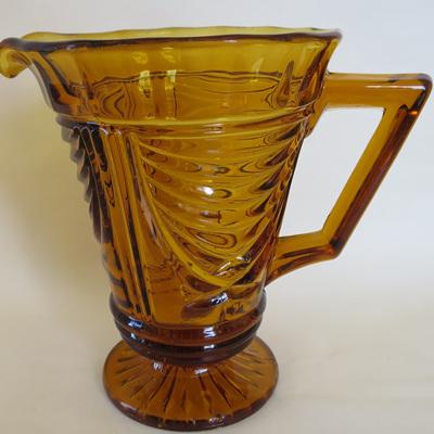 Large amber glass jug