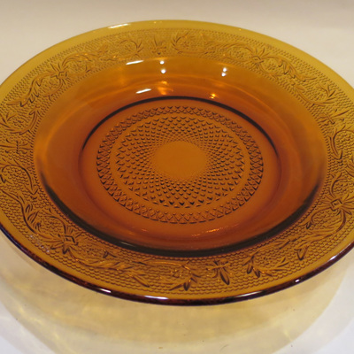Pressed amber glass