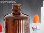 Amber Glass Storage Bottles
