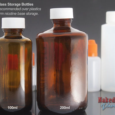 Amber Glass Storage Bottles