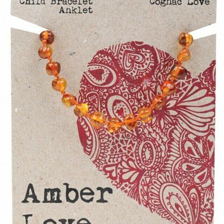 Amber Love Children's Bracelet/Anklet, Cognac Love