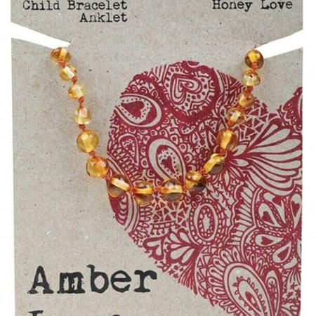 Amber Love Children's Bracelet/Anklet, Honey Love