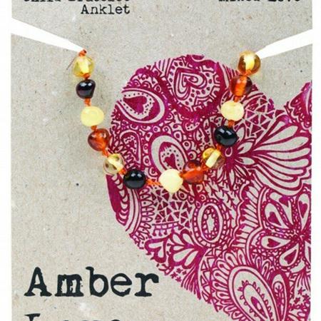 Amber Love Children's Bracelet/Anklet, Mixed Love