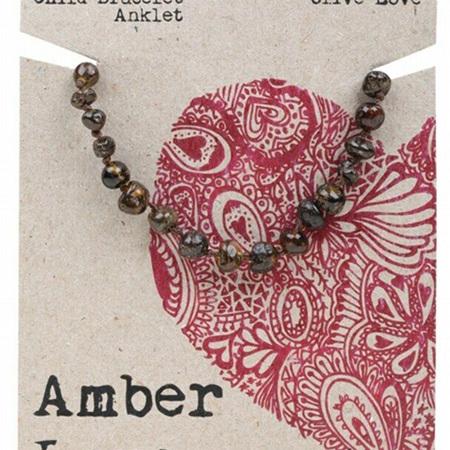 Amber Love Children's Bracelet/Anklet, Olive Love
