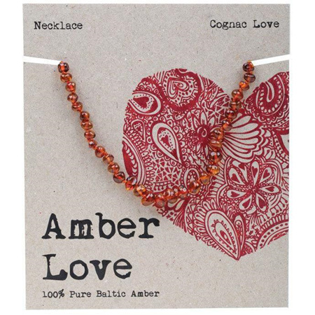 Amber Love Children's Necklace, Cognac Love