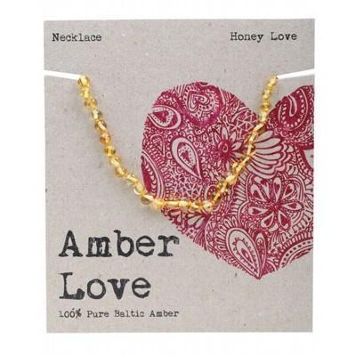 Amber Love Children's Necklace, Honey Love