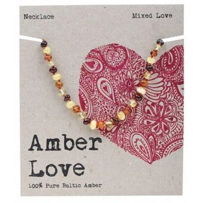 Amber Love Children's Necklace, Mixed Love