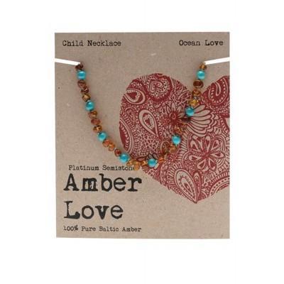 Amber Love Children's Necklace, Ocean Love