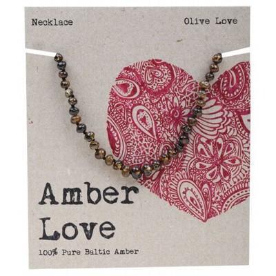 Amber Love Children's Necklace, Olive Love