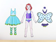 Amber's Fairy costume dress up doll wall decal