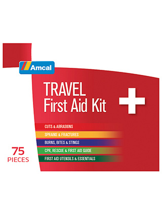 AMCAL FIRST AID KIT TRAVEL 75