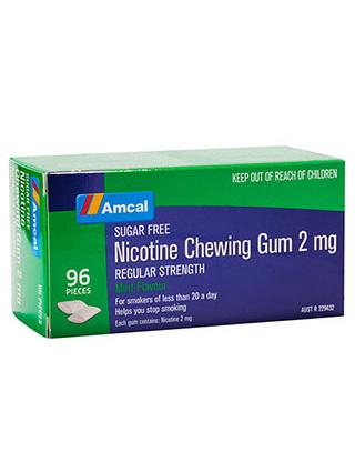 AMCAL NICOTINE GUM 2MG MINT 96