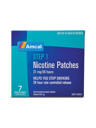 AMCAL NICOTINE PATCHES 21MG 7