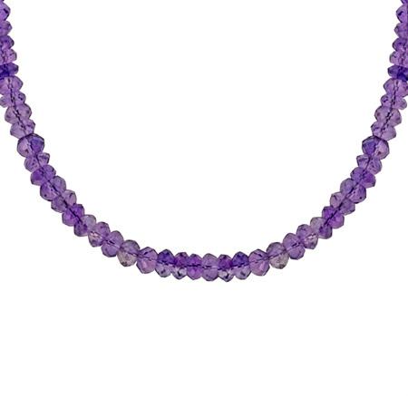 Amethyst Bead Necklace