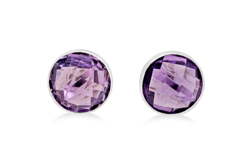 on i naturals options studs creations raw ear stud heart gemstone various amethyst earring