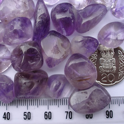 Amethyst Tumbled Beads
