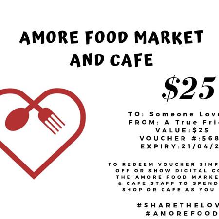 Amore Food Market & Cafe Gift Vouchers