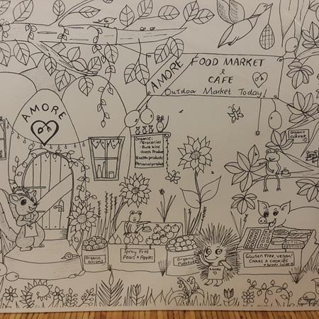 Amore Food Market & Cafe Whimsical Print