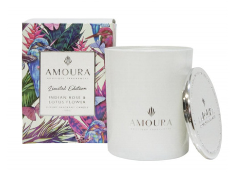 AMOURA Candle Indian Rose & Lotus Flower 100g