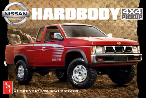 amt 1 20 1993 nissan hardbody 4x4 pickup rick 39 s model kits. Black Bedroom Furniture Sets. Home Design Ideas