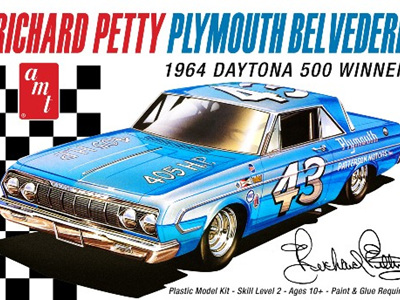 AMT 1/25 1964 Plymouth Belvedere Daytona 500 Richard Petty Stock Car