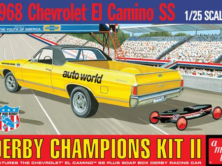 AMT 1/25 1968 El Camino w/Soap Box Derby Car