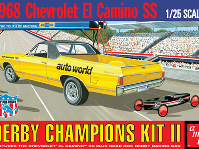 AMT 1/25 1968 El Camino w/Soap Box Derby Car