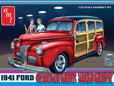 AMT 1/25 41 Ford Custom Woody