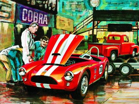 AMT 1/25 ''53 Ford/Trailer Cobra Racing Team