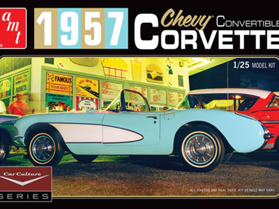AMT 1/25 Car Culture 1957 Corvette Convertible