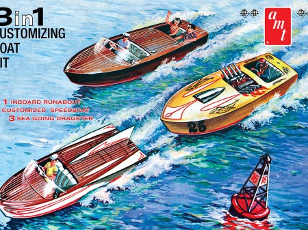 AMT 1/25 Customizing Boat (3-in-1)