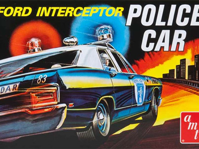 AMT 1/25 Ford Galaxie Interceptor 'Police Car'