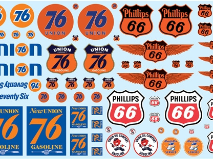 AMT 1/25 Phillips 66 & Union 76 Trucking Decal Pack